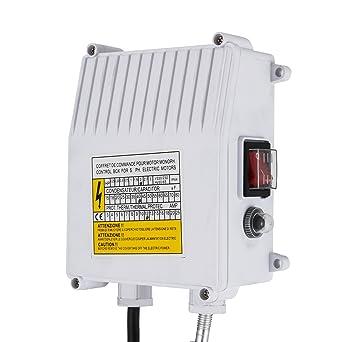 BuoQua 220V 0.37KW 0.5HP Pompa Sommersa Per Pozzi 370W Pompa di Profondit/à Fino a 90m 1200L//H Pompa sommersa Con 10m Cordone