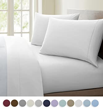 HLC.ME Ultra Soft Authentic 1200 Thread Count Cotton Rich   4 Piece Solid