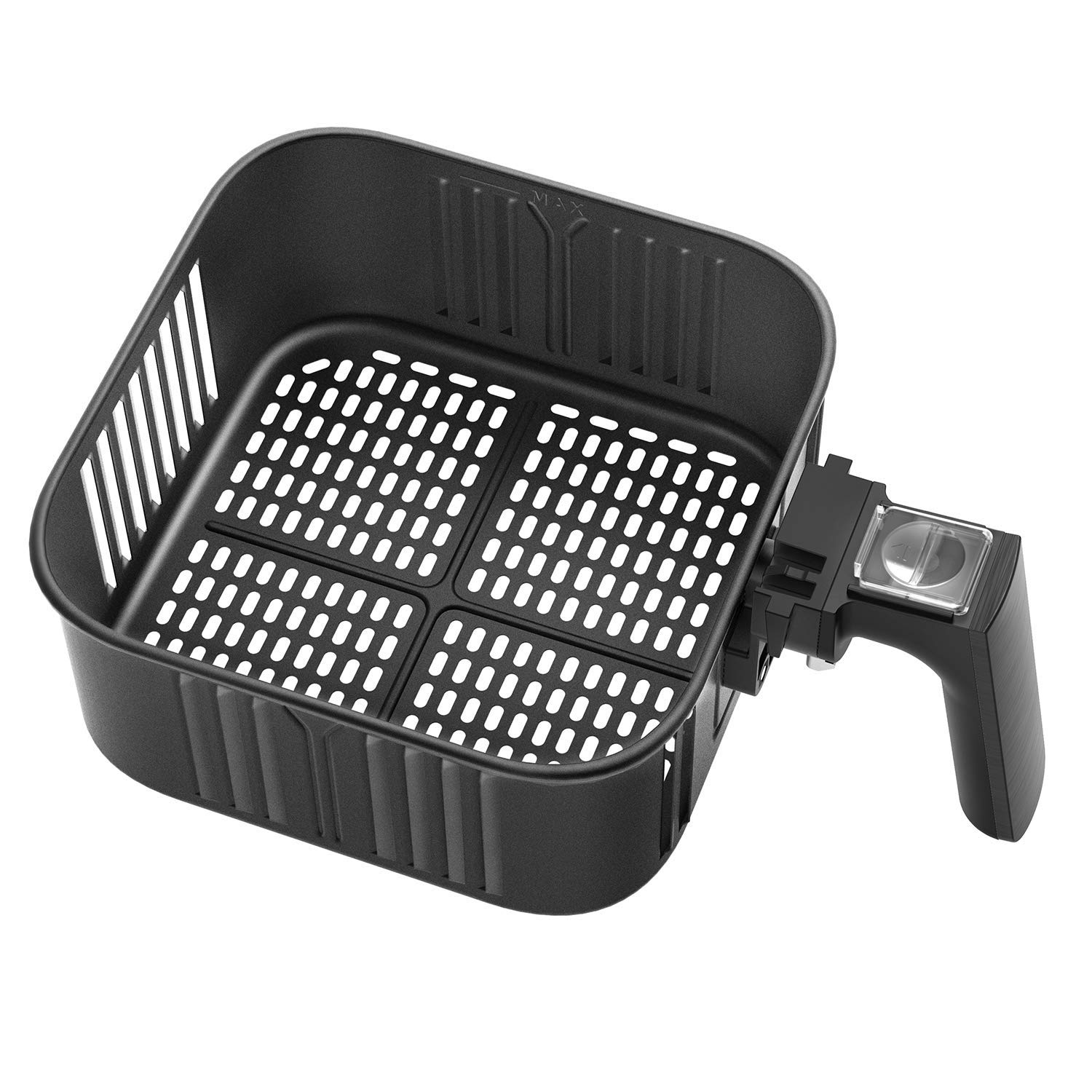 Air Fryer Replacement Basket For Cosori 5.8Qt Air Fryer, C158-FB, Non-Stick Fry Basket, Dishwasher Safe, FDA Compliant, 2-Year Warranty (Renewed)