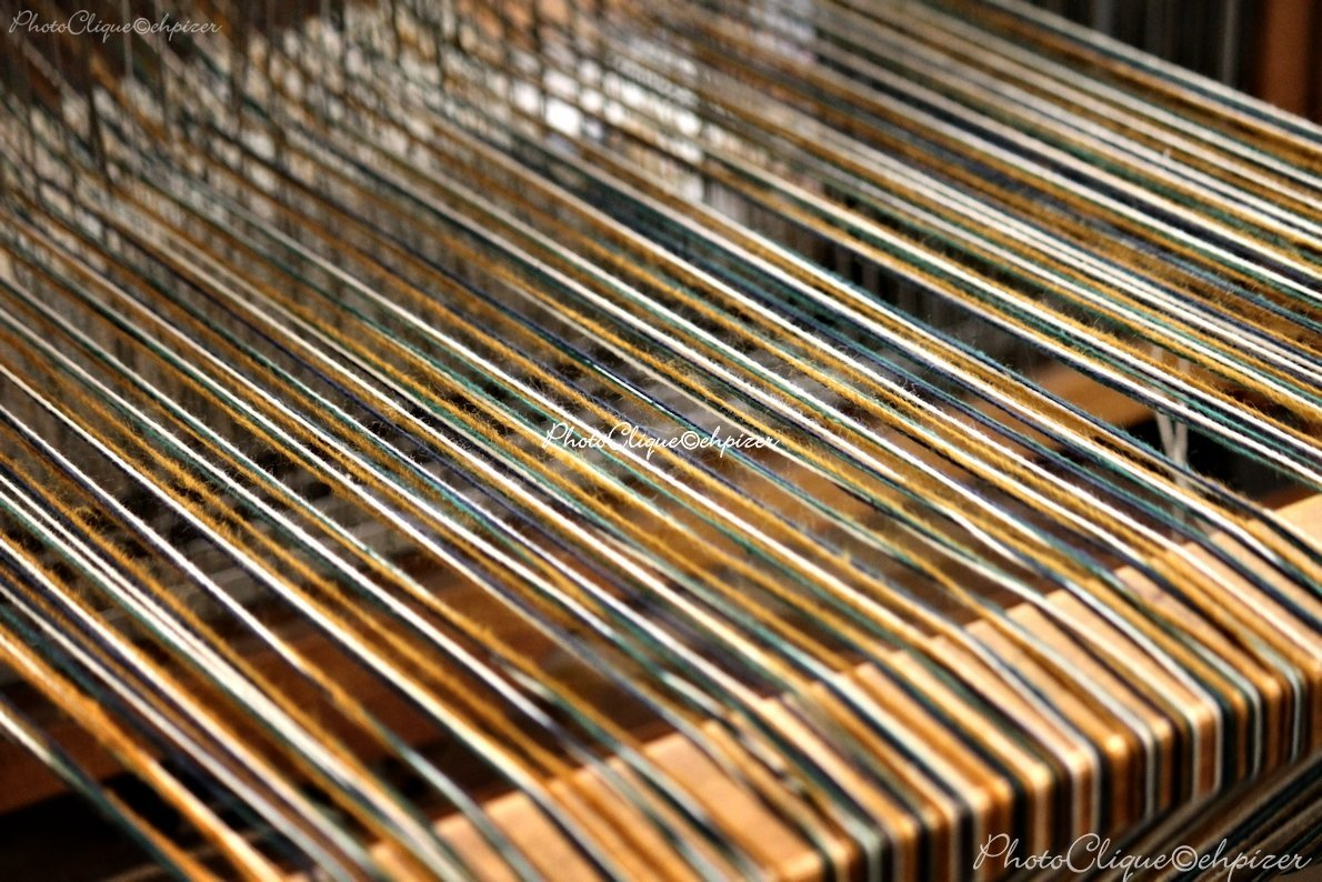 Weaving (1) / Still Life of Weaving Loom Project with Thread - Yarn / Fine Art Photography Print