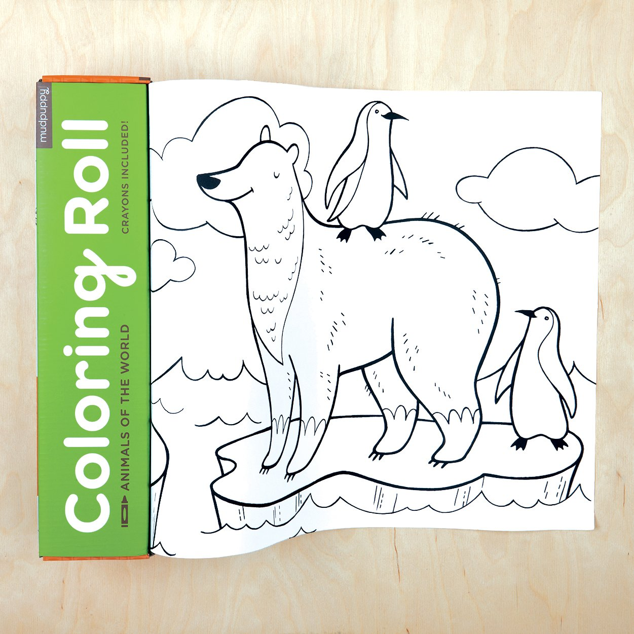 Amazon Mudpuppy 10 Foot Animals Coloring Roll Ndash Fun Artwork Of The World In A Continuous Paper For Ages 3