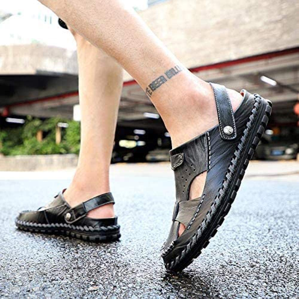 Flip Flop Scarpe Sport Outdoor Estate Hollow Casual Shoes Pelle Traspirante Uomini, Colore: 47 (Color : 45) 43 DGF87C