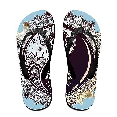 0b066e2616e4b Amazon.com  Creative Tai Chi With Eyes Unisex Fashion Beach Flip Flops  Sandals Slippers Sandal For Home   Beach  Clothing
