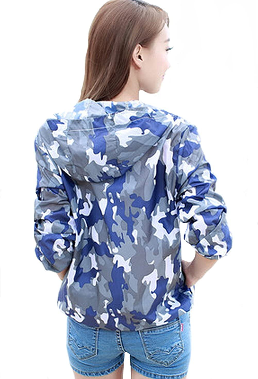 VOGUE CODE Camouflage Sun Protection Clothing Long-sleeved Beach Clothes