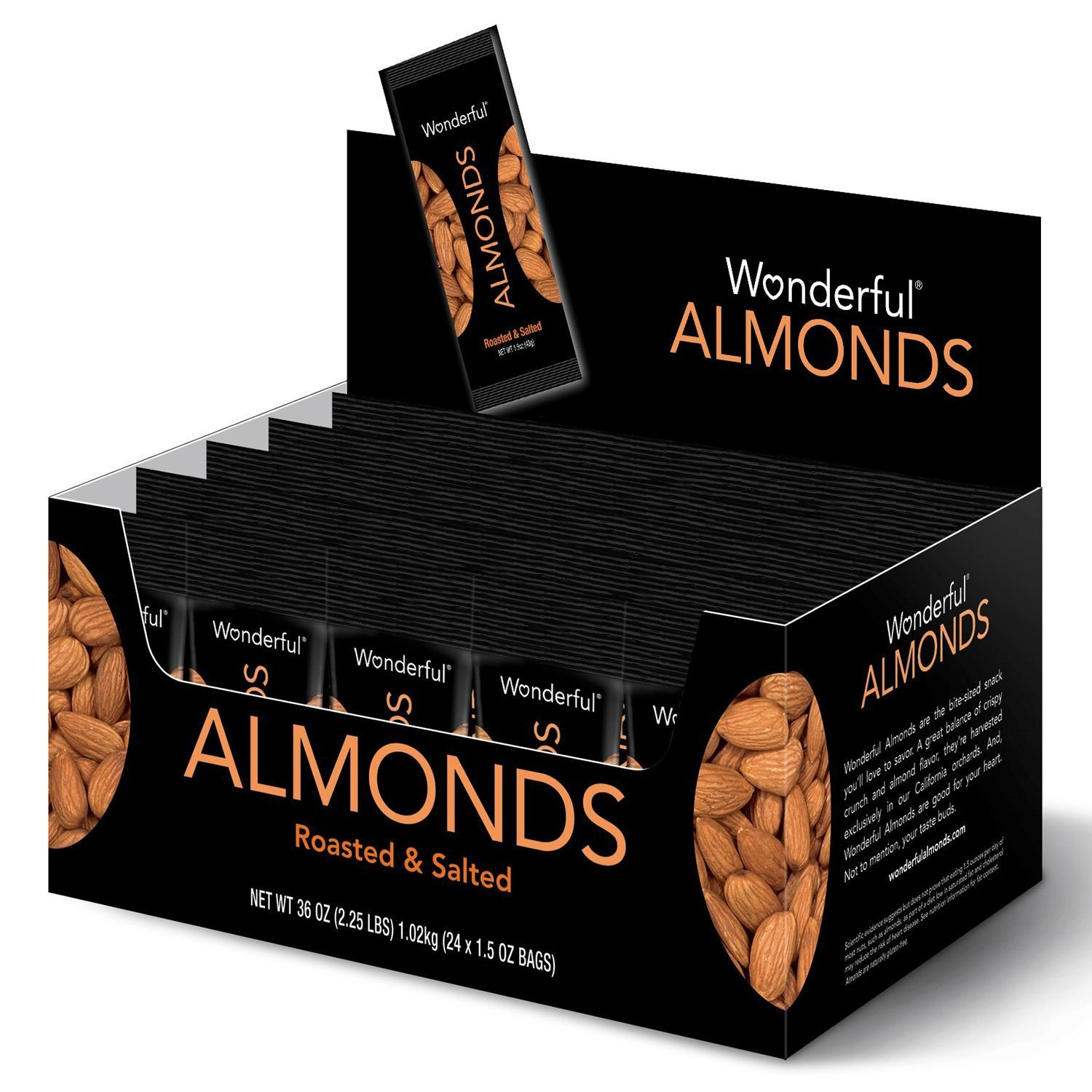Wonderful Almonds Roasted & Salted (36 oz) (pack of 6)