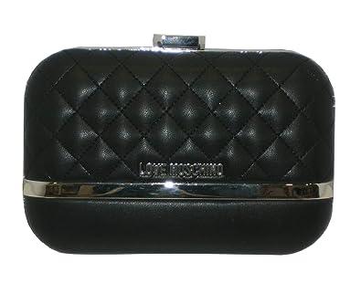 12ec317e2b2 Evening bag love moschino clutch rigid JC4319PP05 black: Amazon.co ...