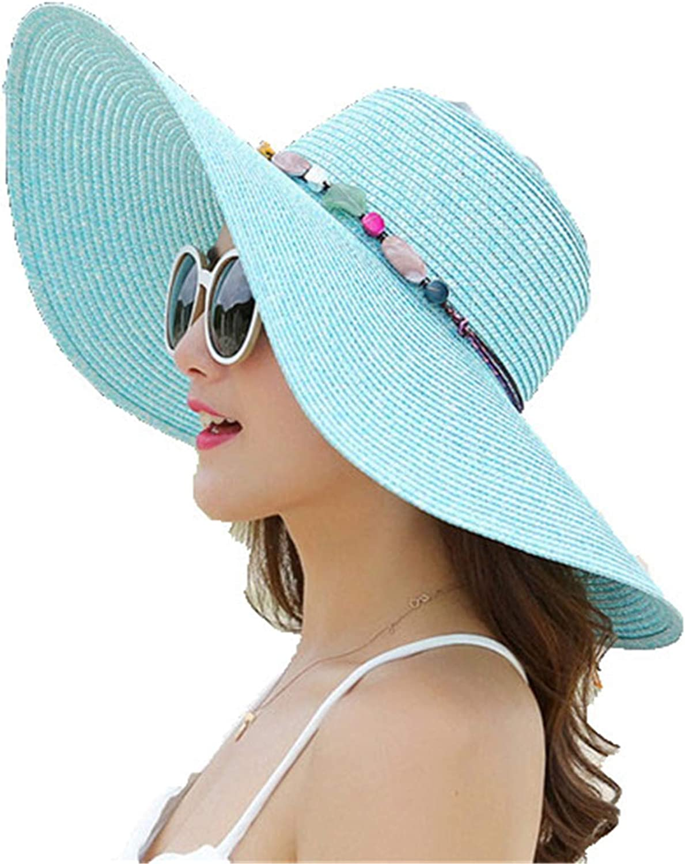 Hot Women Big Brim Sun Hats Foldable Hand Made Straw hat Female Summer hat Casual Shade Cap Beach hat