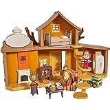 Simba 109301032WEB Masha y Michka - Casa de Michka con 2 Pisos, Funciones sonoras, 2 Figuras y Muchos Accesorios…