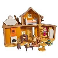 Simba - Masha & Michka - Maison de Masha 2 Etages + 1 Poupée 12 Cm et Accessoires