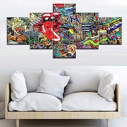 amazon com graffiti paintings for wall house decorations living rh amazon com modern paintings for living room uk modern paintings for living room uk