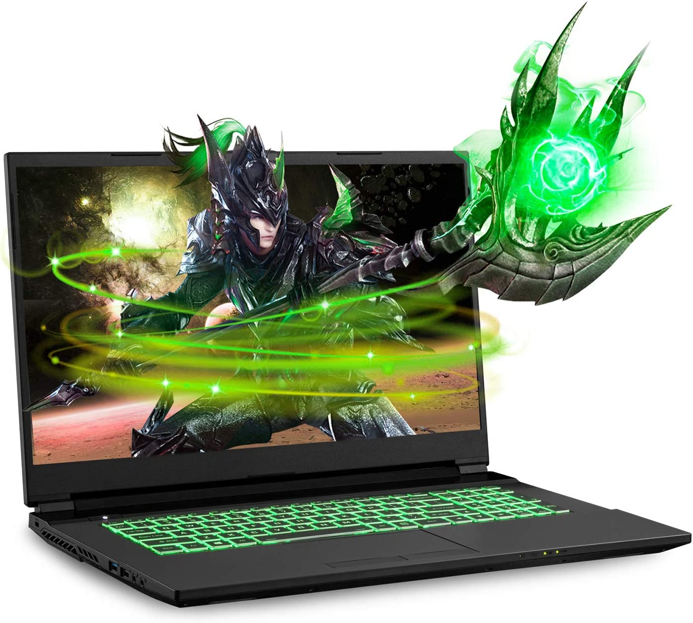 Sager NP7877DW 17.3-Inch Thin Bezel FHD 144Hz Gaming Laptop, Intel i7-10875H, RTX 2060 6GB, 16GB RAM, 500GB NVMe SSD, Windows 10