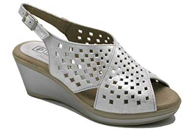 2743, Damen Zehentrenner Silber Silber, Silber - Silber - Größe: EU 38 Pitillos