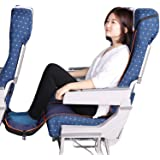 Travel Bread Airplane Footrest Hammock, Portable Travel Footrest with Inflatable Pillows, Adjustable Height Flight Carry…