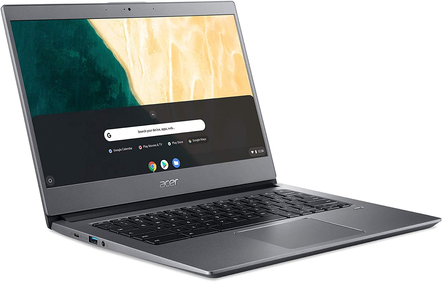 "Acer Chromebook 714, Intel Pentium Gold 4417U, 14.0"" Full HD Display, 8GB DDR4, 64GB eMMC, microSD Card Reader, 802.11ac WiFi 5, Backlit Keyboard, Fingerprint Reader, Chrome OS, CB714-1W-P3CK"