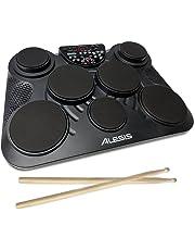 Alesis CompactKit 7 - Batería Electrónica de Sobremesa de 7 Pads con Pads Sensibles a la Velocidad, 265 Sonidos, Salida USB-MIDI y Baquetas Incluidas