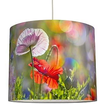 anna wand Lampenschirm Design MOHNBLUMEN – Schirm für Lampen mit ...