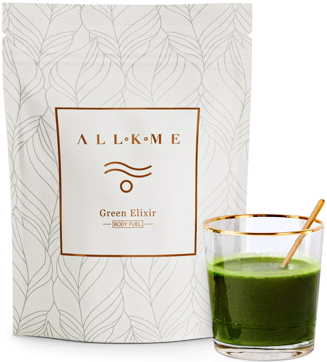 Super greens and Superfood Powder / Vegan protein powders / Detox drink with: green tea, pea protein, psyllium husk, spirulina chlorella, aloe vera, turmeric, wheatgrass, probiotics for adults product image