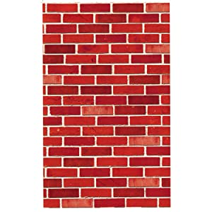JOYIN Brick Wall Backdrop 4FT by 30FT Party Accessory Halloween Wall Decorations