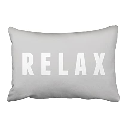 Amazon Capsceoll Relax Gray White Modern Block Print Quote Beauteous Relax Decorative Pillow