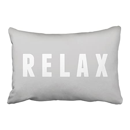 Review Capsceoll relax gray white modern block print quote Decorative Throw Pillow Case 20X30Inch,Home Decoration Pillowcase Zippered Pillow Covers Cushion Cover with Words for Book Lover Worm Sofa Couch