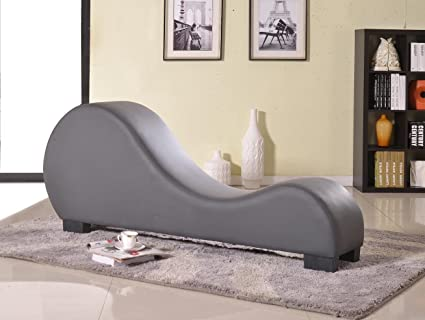divine collection furniture. Container Furniture Direct Divine Collection Modern Upholstered Faux Leather Curved Yoga Chaise Lounge, Gray I