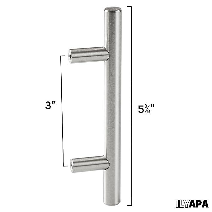 satin nickel kitchen cabinet pulls 3 inch bar 10 pack of kitchen cabinet hardware amazoncom