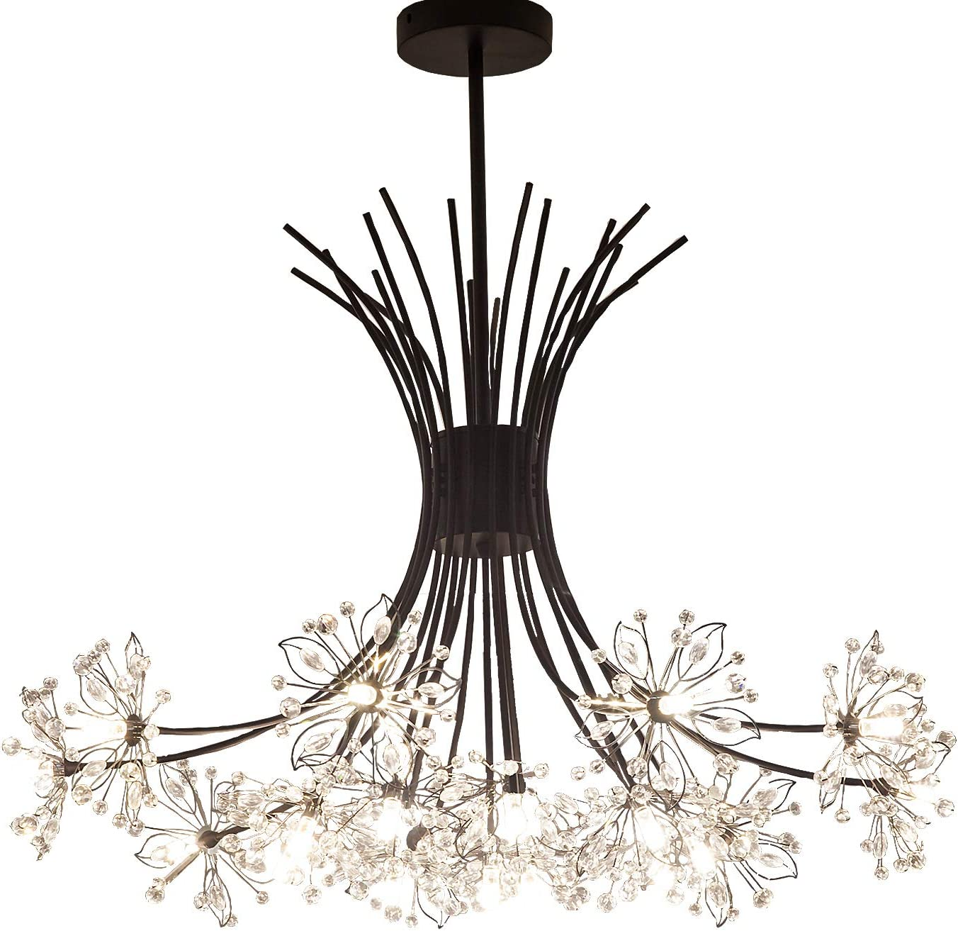 large crystal chandelier table top centerpieces for.htm garwarm modern firework chandeliers  crystal dandelion chandelier  garwarm modern firework chandeliers