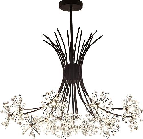 Garwarm Modern Firework Chandeliers,Crystal Dandelion Chandelier Pendant Lighting,Ceiling Lights Fixtures