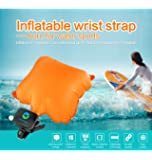 PRUGNA Swim Buoy Rescue Wristband, Water Buoyancy Aid Bracelet, Inflatable Swimming Gasbag with 4 Replacement CO2 Cylinder, Alarm Yellow Color Safety for Swimming Surfing Boating -Shipped in US