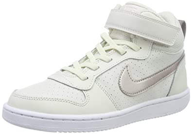 c00280d08e4f1 Nike Mädchen Court Borough Mid Basketballschuhe Mehrfarbig (Phantom MTLC  Red Bronze-White 007
