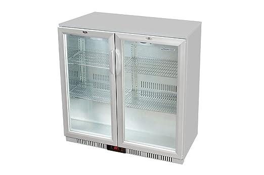 Kühlschrank Glastür : Glastür kühlschrank 90 x 90 x 52 cm silber getränkekühlschrank mit