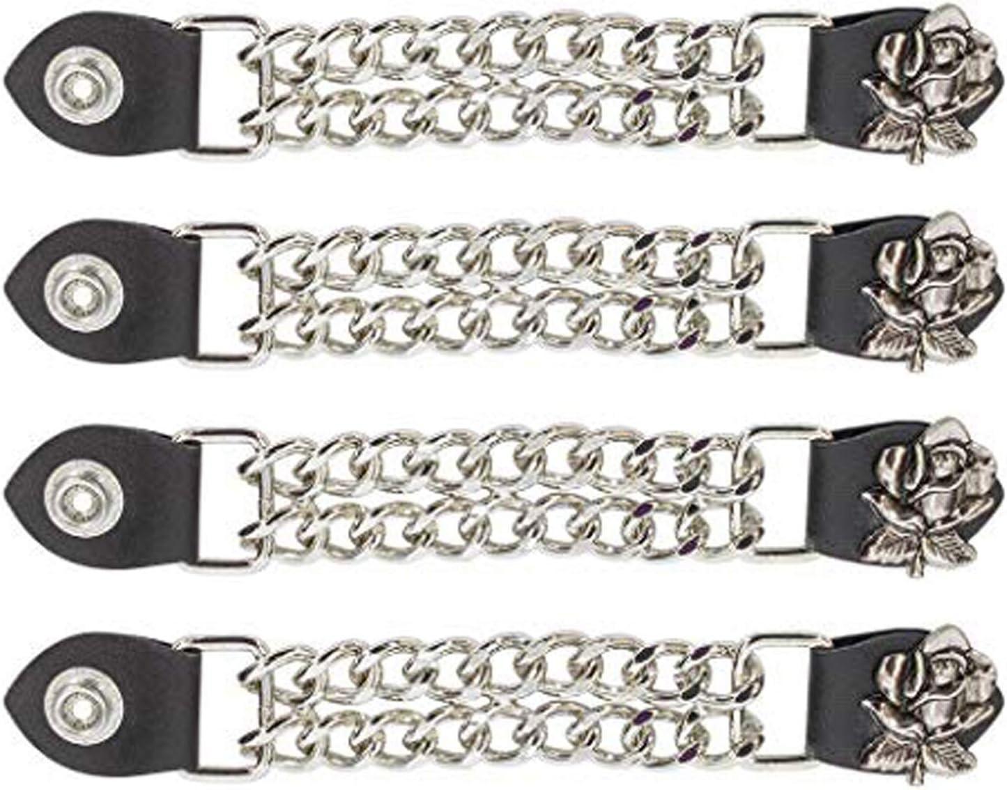 Dream Apparel Women Rose Vest Extender Chrome Double Diamond Cut Chrome Chain (4)