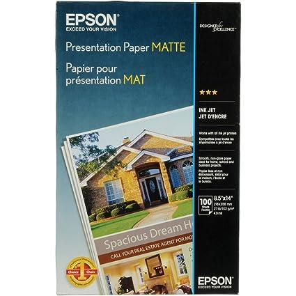 amazon com epson presentation paper matte 8 5x14 inches 100