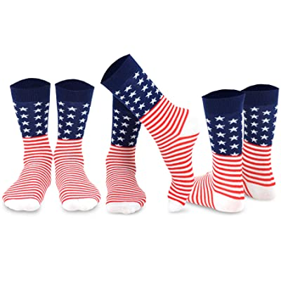 TeeHee Novelty Fashion American Crew Socks 3 Pair Pack at Women's Clothing store