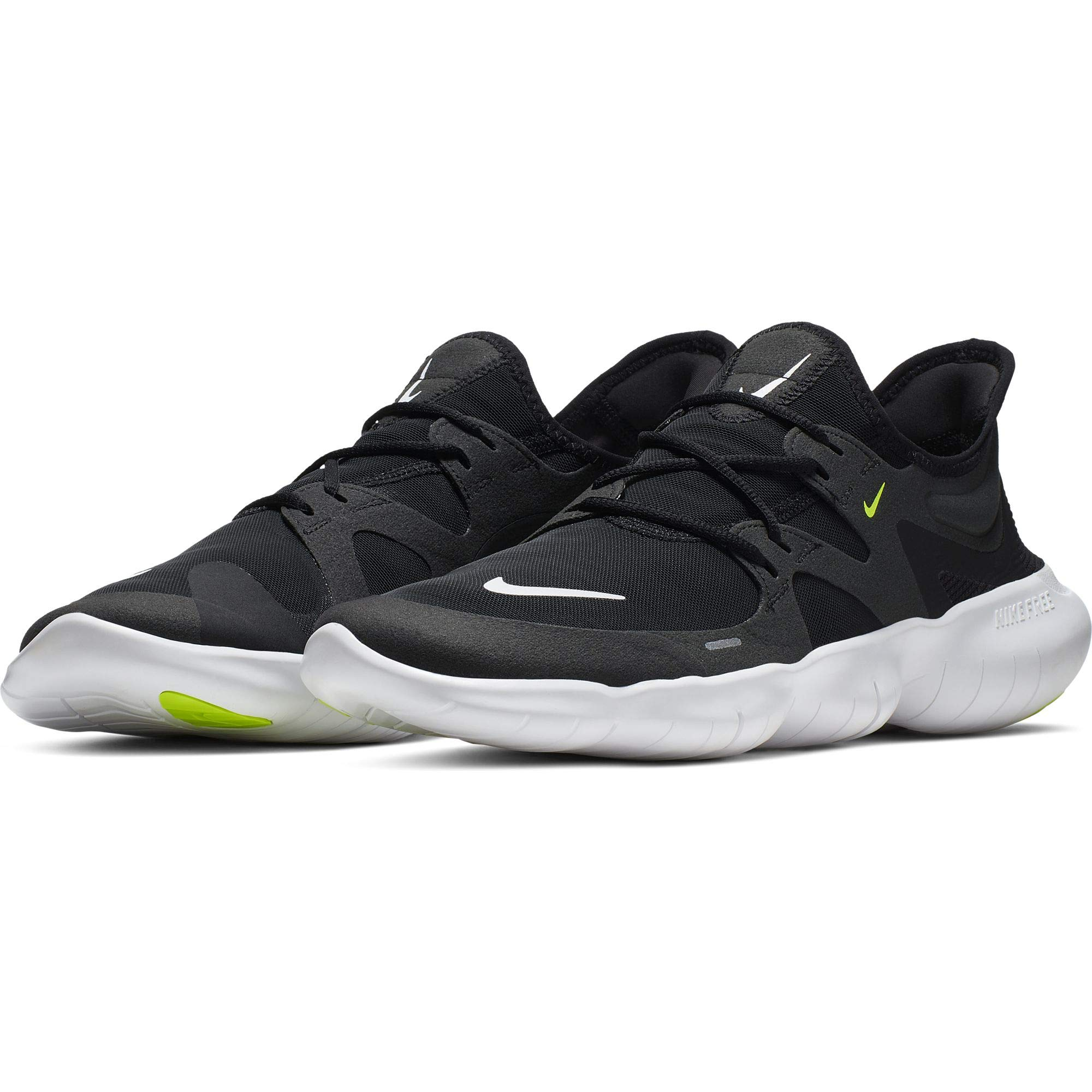 Nike Men's Free RN 5.0 Running Shoe Black/White/Anthracite/Volt Size 7.5 M US by Nike (Image #1)