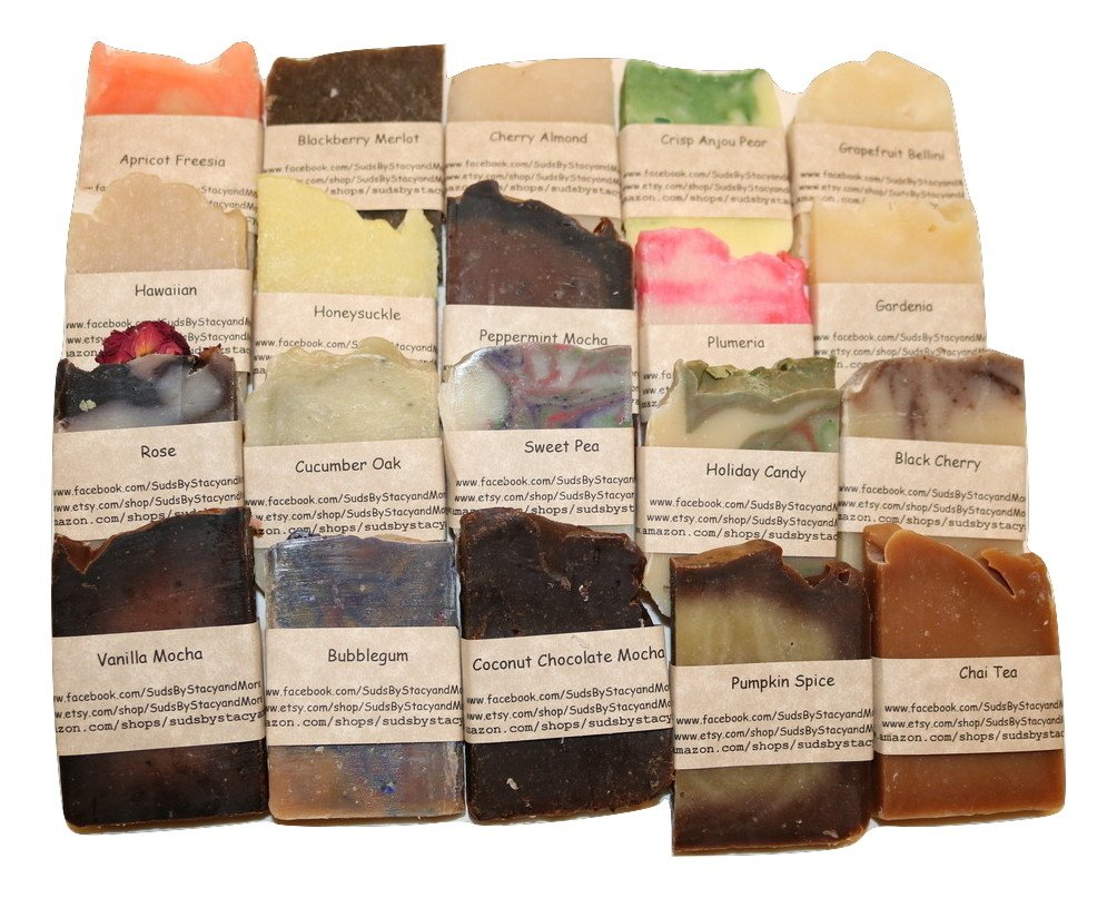 Suds By Stacy and More 20 Pack of Fragrance Oil Variety Sampler Soaps