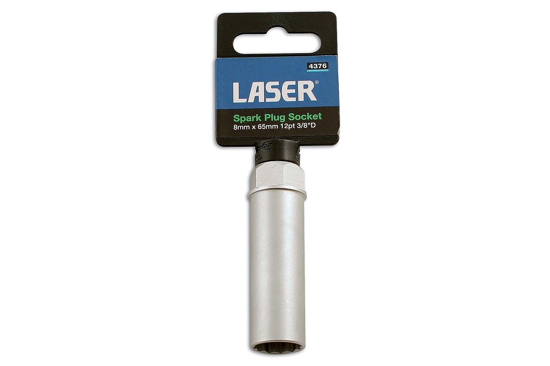 Laser 4376 - Llave para bujías (14 mm x 65 mm, 12 puntos, 3/8