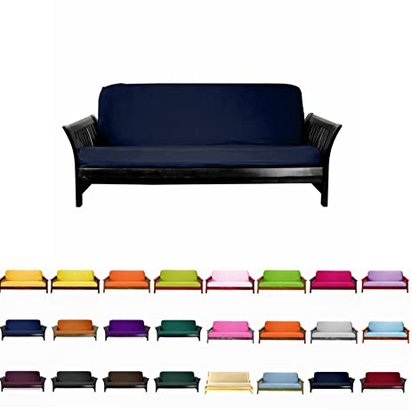 magshion futon cover slipcover  navy blue full  54x75 in    amazon    magshion futon cover slipcover  navy blue full  54x75      rh   amazon