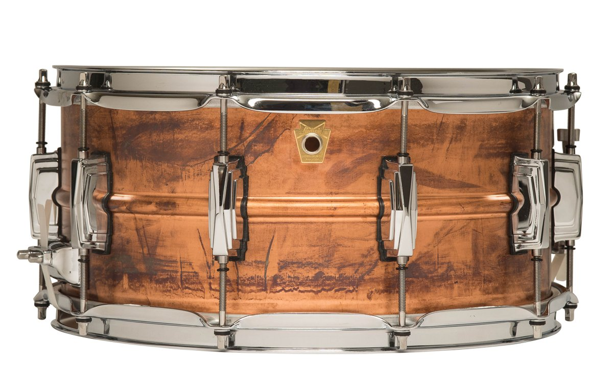 Ludwig Copper Phonic Snare Drum - 6.5'' x 14'' - Raw Patina Finish