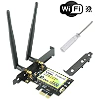 Ziyituod Wifi 6 AX 2974Mbps Wireless Wifi Network Card with Bluetooth5.0, 802.11ax/ac Dual Band(5GHz/2.4GHz) PCIe WiFi Adapter Card for PC, Support Windows 10 64bit,Chrome OS,Linux