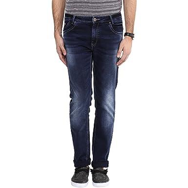 32c184d1ed4c Mufti Mens Dark Blue SUPER SLIM FIT Mid Rise Jeans (30)  Amazon.in ...