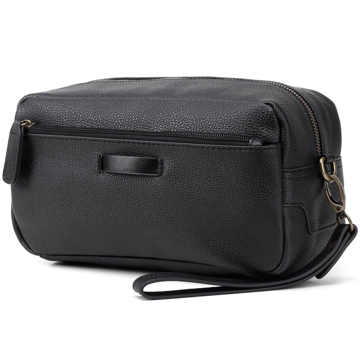 Abillon Travel Toiletry Bag Leather Shaving Dopp Kit, Unisex