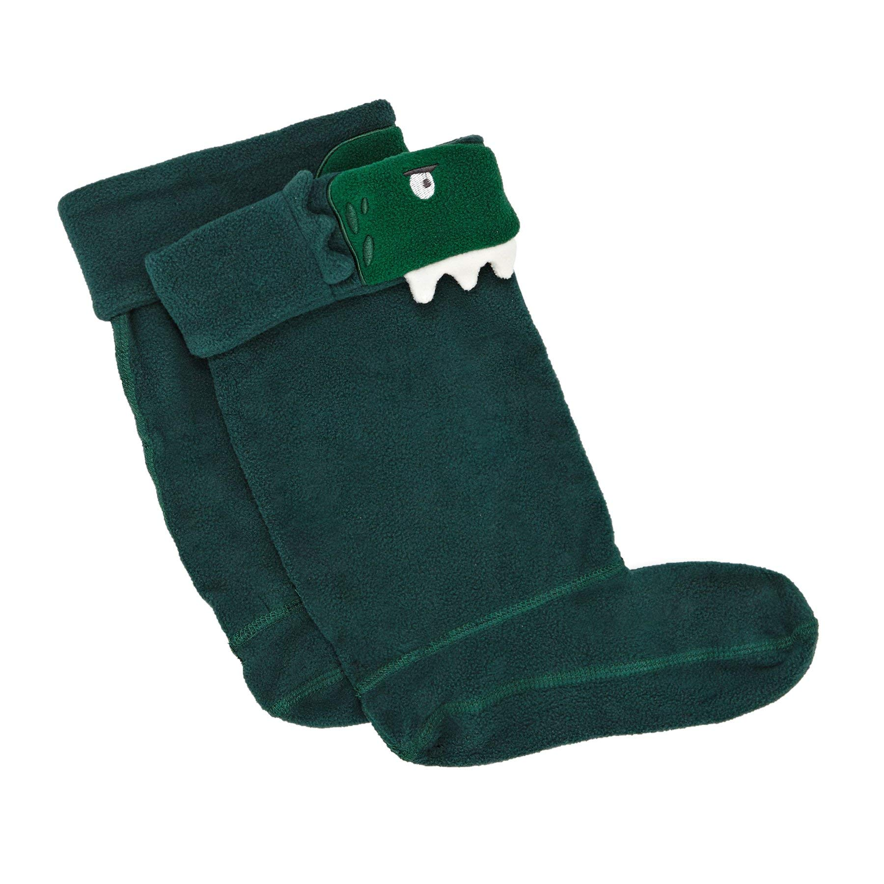 Joules Junior Green Dino Smile Welly Socks-Large by Joules