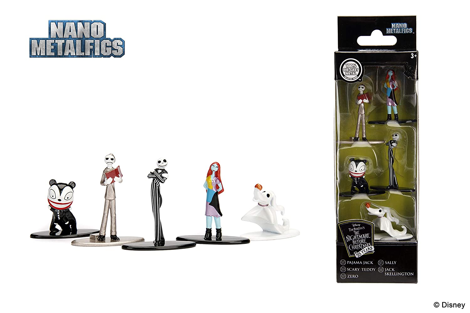 Amazon.com: Nano Metalfigs Disney Tim Burton\'s The Nightmare Before ...