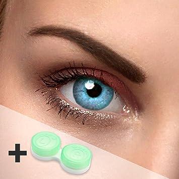 Lentillas de colores azul – sin graduación – SKY blue – para ojos claros & oscuros – estuche de lentillas gratis – dos lentillas azul mar: Amazon.es: Salud y cuidado personal