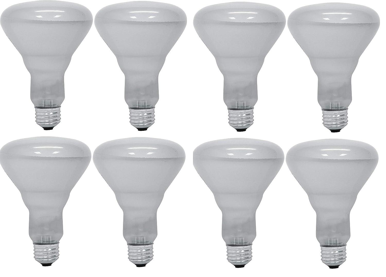 GE 65 Watt Soft White 580-Lumen Floodlight BR30 Light Bulb, (8 Pack)
