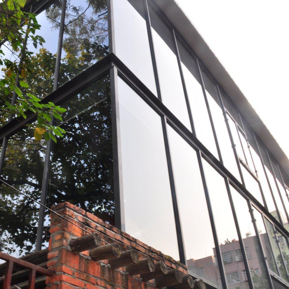 YQ WHJB Mirror window films,Anti-uv Sun protection film,Self adhesive One way Pvc Explosion-proof Glass Balcony Sun control solar films-A 100x100cm(39x39inch)
