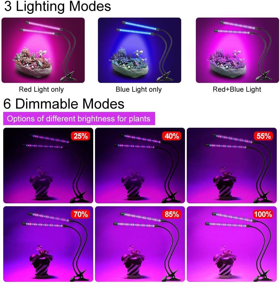 20W//30W Doppelte//Drei Kopf LED Wachstumslampe Pflanzenlampe Licht Blau Rot