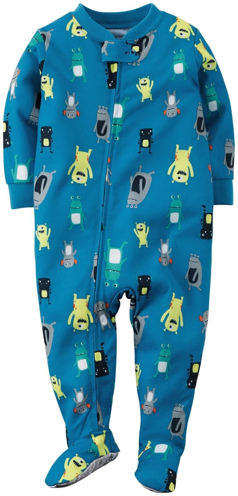 Carter's Little Boys' Print Footie (Toddler) - Monsters - 5T by Carter's (Image #1)
