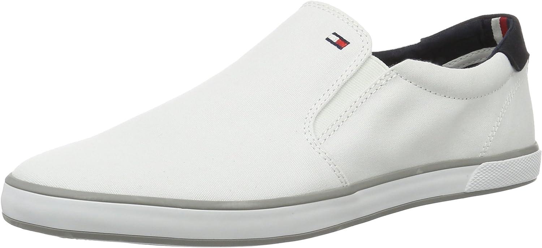 Tommy Hilfiger H2285arlow 2D, Zapatilla de Deporte Baja del Cuello para Hombre Blanco White 100